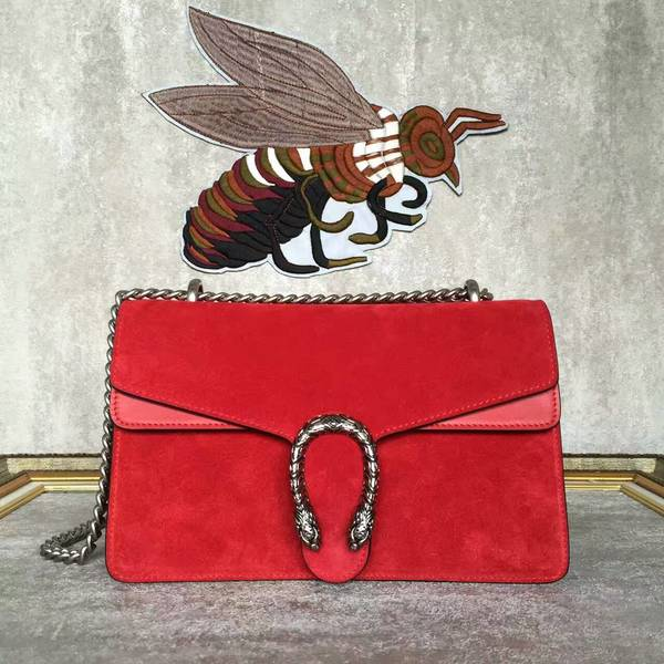 Gucci Dionysus Suede Leather Mini Shoulder Bag 400249 Red