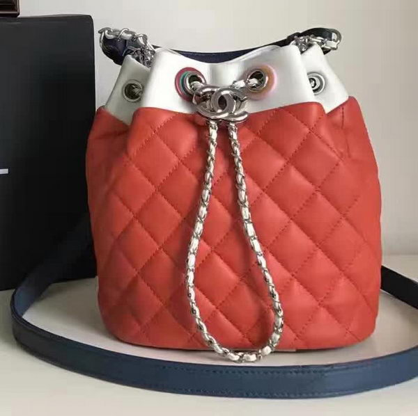 Chanel Hobo Bag Original Sheepskin Leather A95182 Red