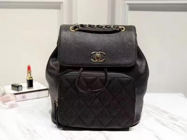 Chanel Calfskin Leather Backpack A36590 Black