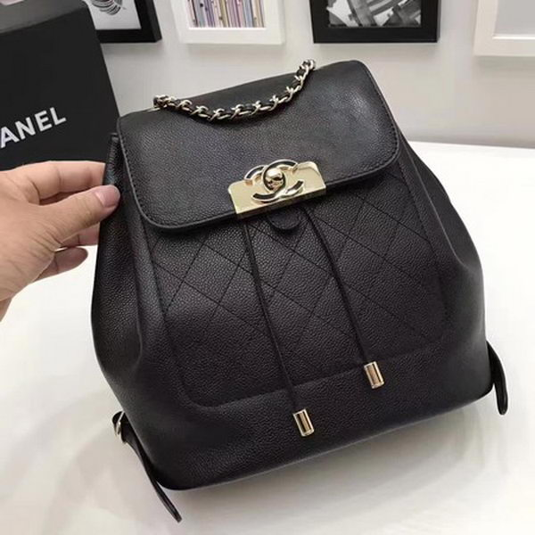 Chanel Calfskin Leather Backpack CHA2845 Black
