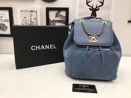 Chanel Original Leather Backpack CHA2590 Blue