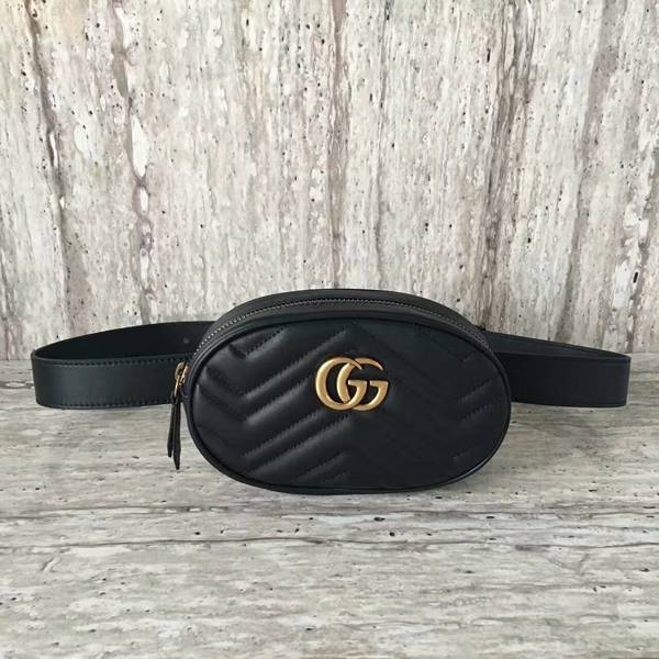 Gucci GG Marmont Quilted Leather Bag 476434 Black