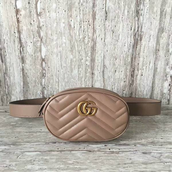 Gucci GG Marmont Quilted Leather Bag 476434 Camel
