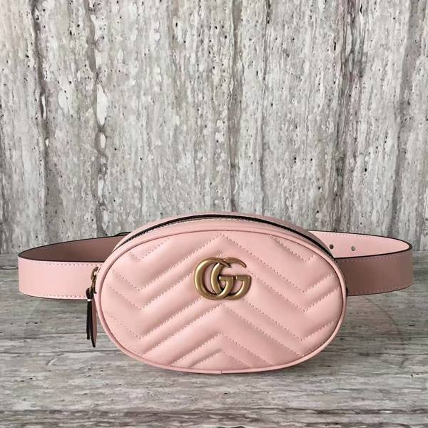 Gucci GG Marmont Quilted Leather Bag 476434 Pink