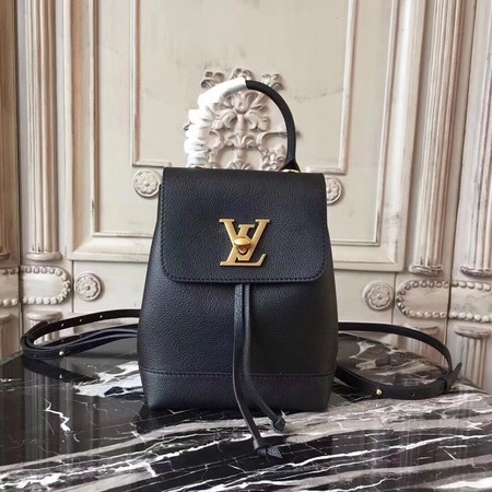 Louis Vuitton Soft Calfskin LOCKME BACKPACK MINI M54573 Black