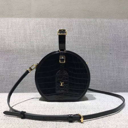 Louis Vuitton Croco Leather PETITE BOITE CHAPEAU M43516 Black