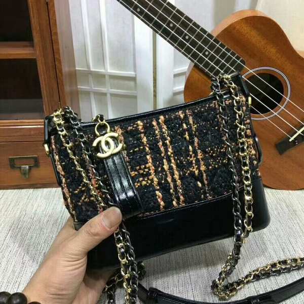 Chanel Gabrielle Mini Shoulder Bag Suede Leather 1010A
