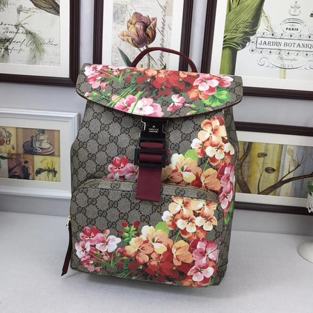 Gucci GG Blooms Backpack 405019 red