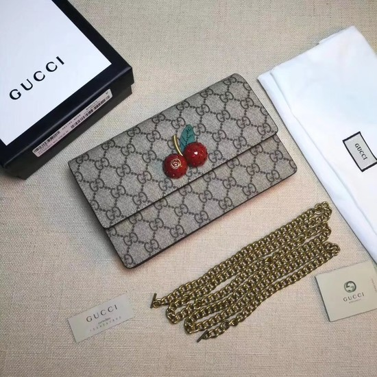 Gucci GG canvas small shoulder bag PVC 481291 Cherry