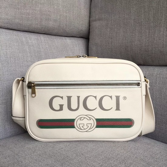 Gucci Print shoulder bag 523589 white