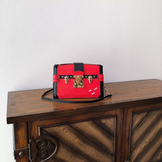 Louis Vuitton Epi Leather TRUNK CLUTCH M51697 red