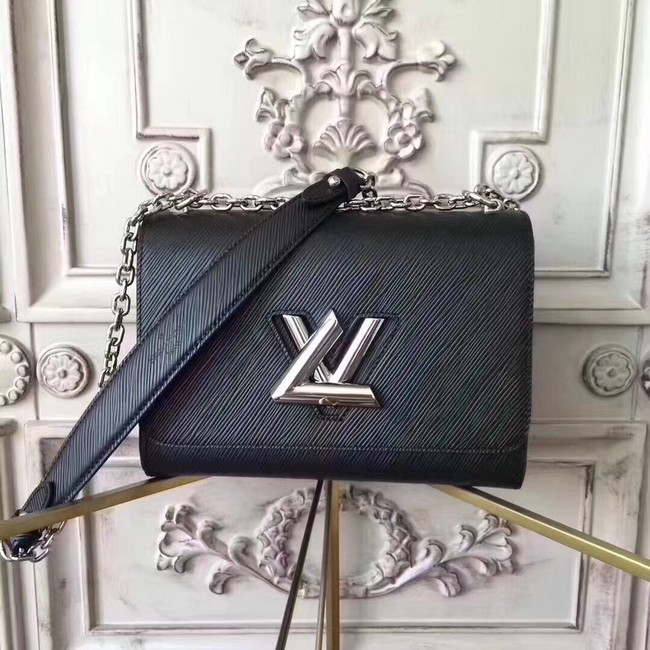Louis vuitton original epi leather TWIST MM M50332 black