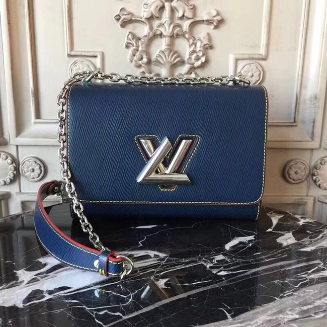 Louis vuitton original epi leather TWIST MM M50332 dark blue