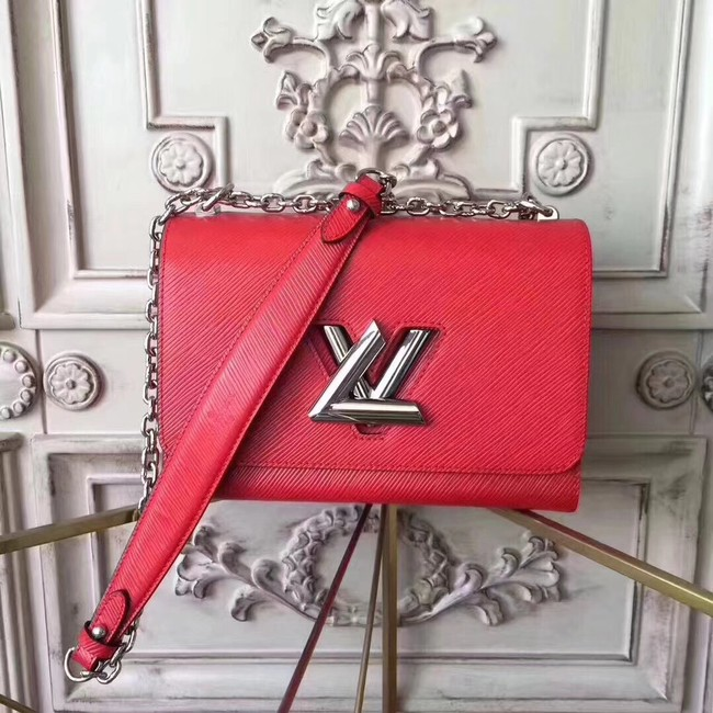 Louis vuitton original epi leather TWIST MM M50332 red