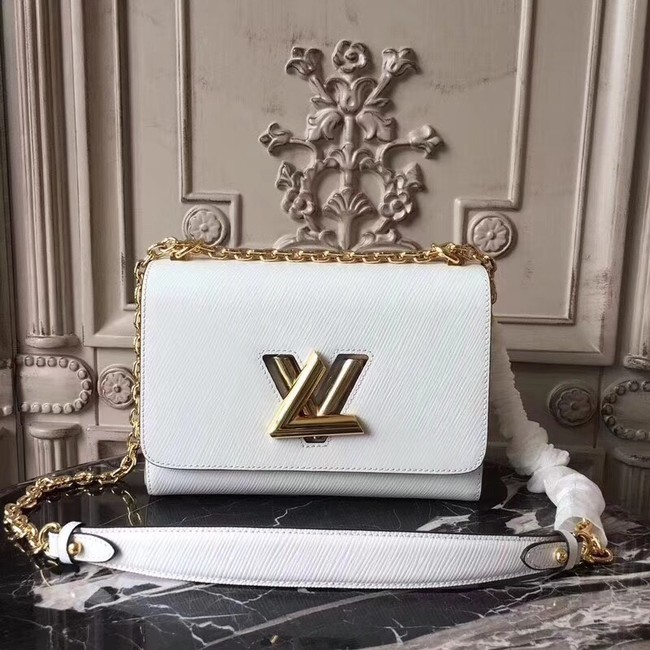 Louis vuitton original epi leather TWIST MM M50332 white