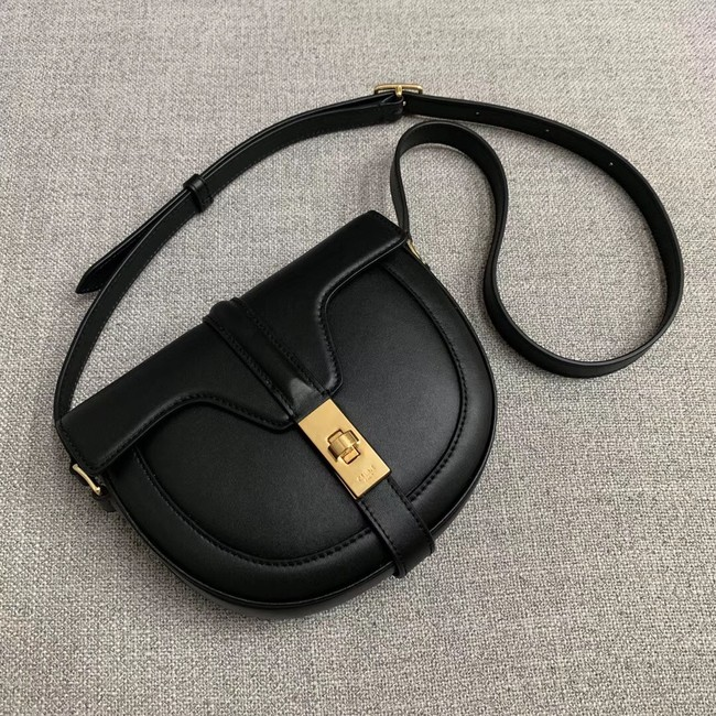 CELINE SMALL BESACE 16 BAG IN SATINATED CALFSKIN CROSS BODY 188013 BLACK