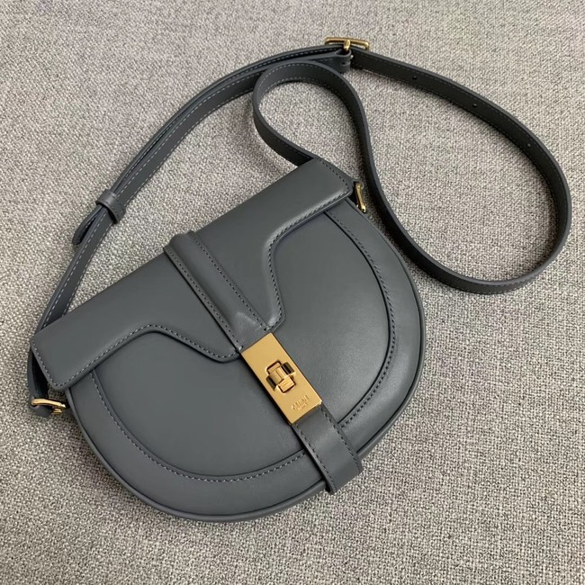 CELINE SMALL BESACE 16 BAG IN SATINATED CALFSKIN CROSS BODY 188013 GREY