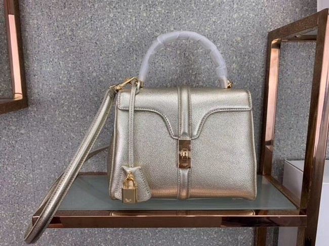 CELINE SMALL 16 BAG IN LAMINATED GRAINED CALFSKIN 188003 GOLD