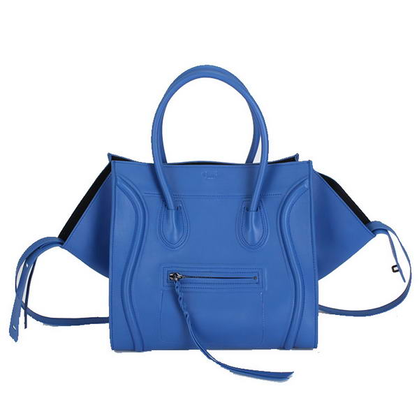 2012 Hot products Celine Luggage Phantom Square Bags Ferrari Leather 80066 Blue