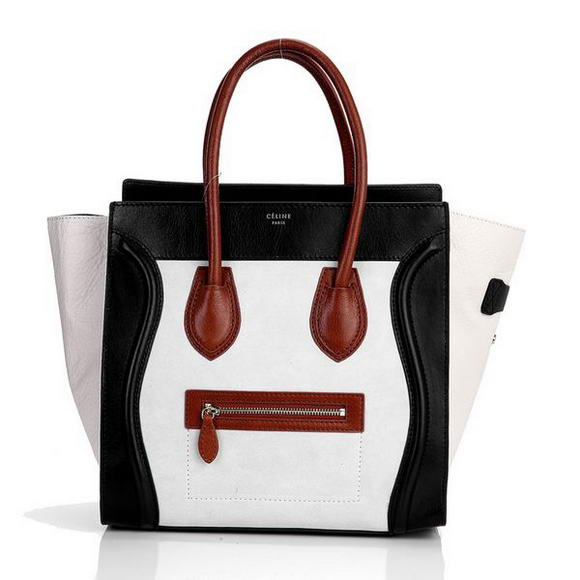 Celine Luggage Medium 1163984LBN in Suede Cream