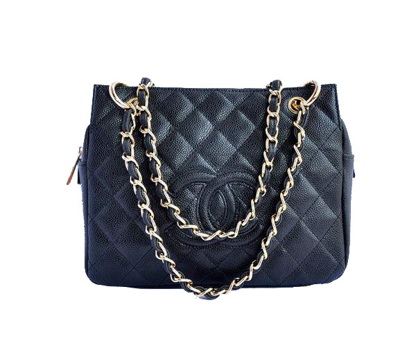 Cheap Chanel Coco Cocoon Bags A18004 Black Golden