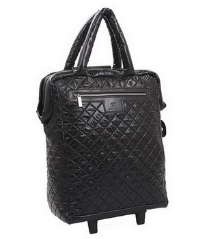Chanel CoCo Quilted Nylon Trolley A47204 Black