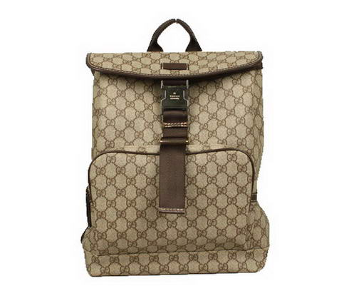 Gucci GG Fabric Backpack 246103 Brown