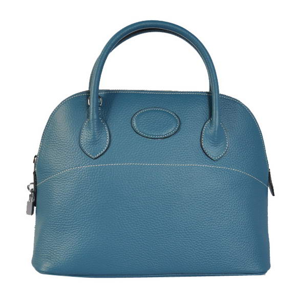 Hermes Bolide 31CM Tote Bags Clemence H1031 Blue