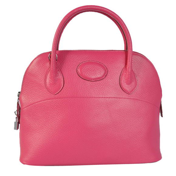 Hermes Bolide 31CM Tote Bags Clemence H1031 Peach