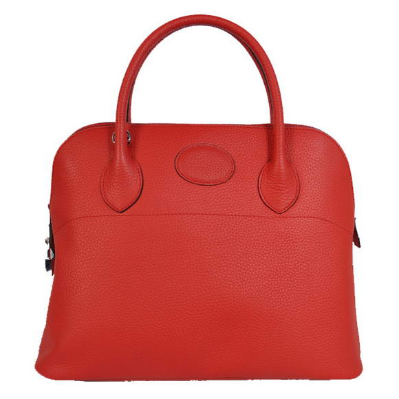 Hermes Bolide 37CM Tote Bags Clemence H1037 Red