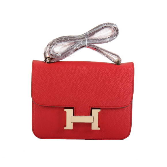 Hermes Constance Bag Togo Leather 1622S Red Golden