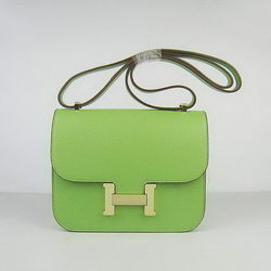 Hermes Constance Bag Green Oxhide Leather Gold