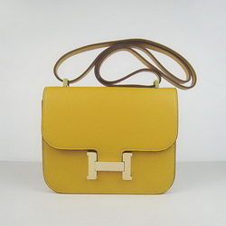 Hermes Constance Bag Yellow Oxhide Leather Gold
