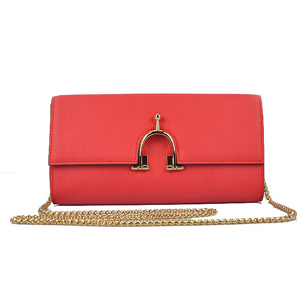 Hermes 2012 Smooth Calf Leather Shoulder Bag Red