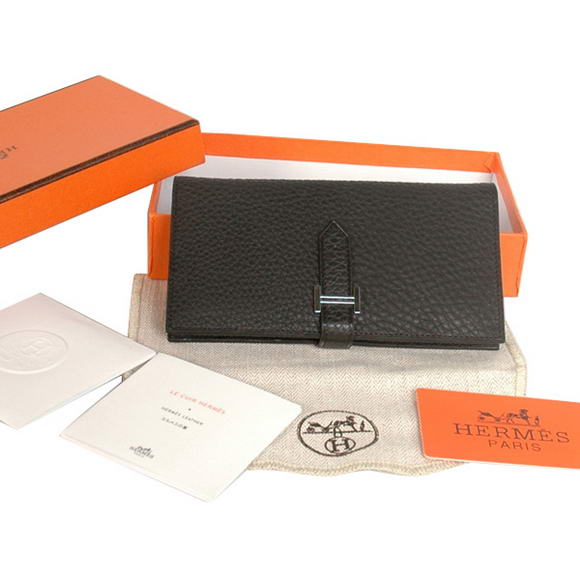 Hermes Bearn Japonaise Original Leather Wallet H8022 Black