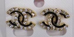 2009 Cheap Chanel CC Logo Earrings H113