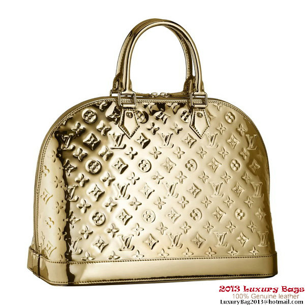Louis Vuitton M93624 Monogram Miroir Alma MM Dore