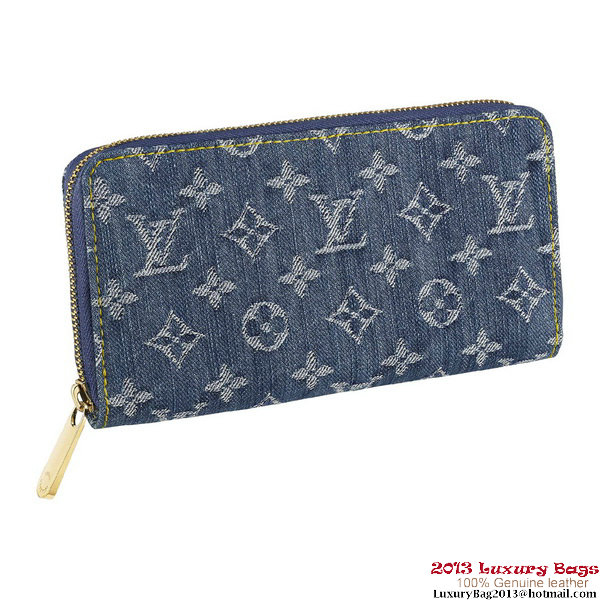 Louis Vuitton M95341 Monogram Denim Zippy Wallet Bleu