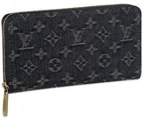 Louis Vuitton Wallets Monogram Denim Zippy Wallet M95614