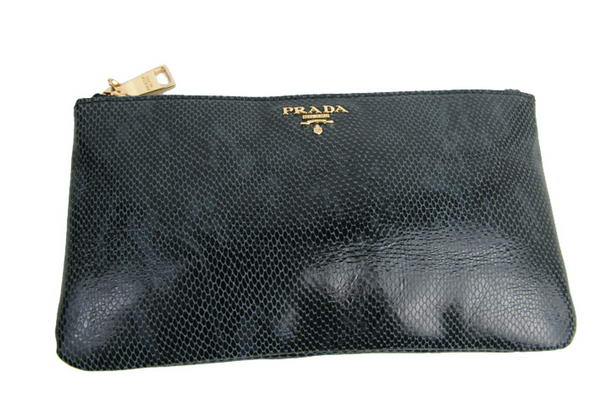Prada Genuine Leather Snake Clutch Bag BL0338 Royalblue