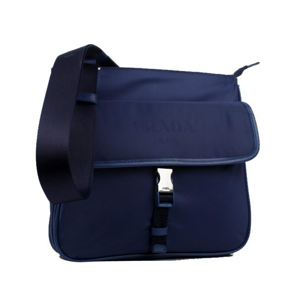 Prada Vela Fabric Messenger Bag BT0269 Blue