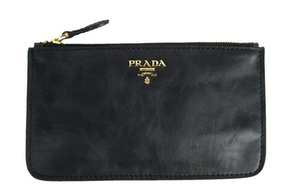 Prada Nappa Leather Clutch Bag 1M1152 Black