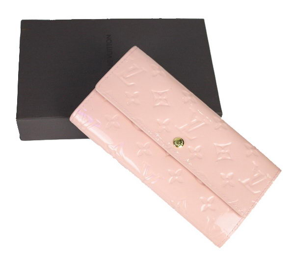 Louis Vuitton Monogram Vernis Sarah Wallet M91715 Pink