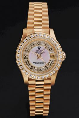 Rolex Datejust Rose Gold 25 mm Women Watch-RD3850