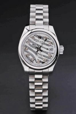Rolex Datejust Silver Cutwork Women 25mm Watch-RD3769