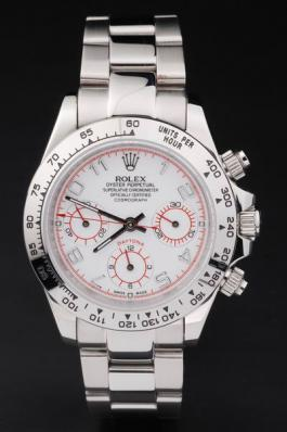 Rolex Daytona Mechanism White Stainless Steel Watch-RD4029