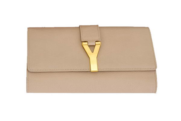 YSL Chyc Travel Case in Apricot Claf Leather