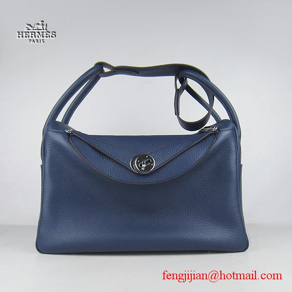 Hermes Women Shoulder Bag Dark Blue 6208