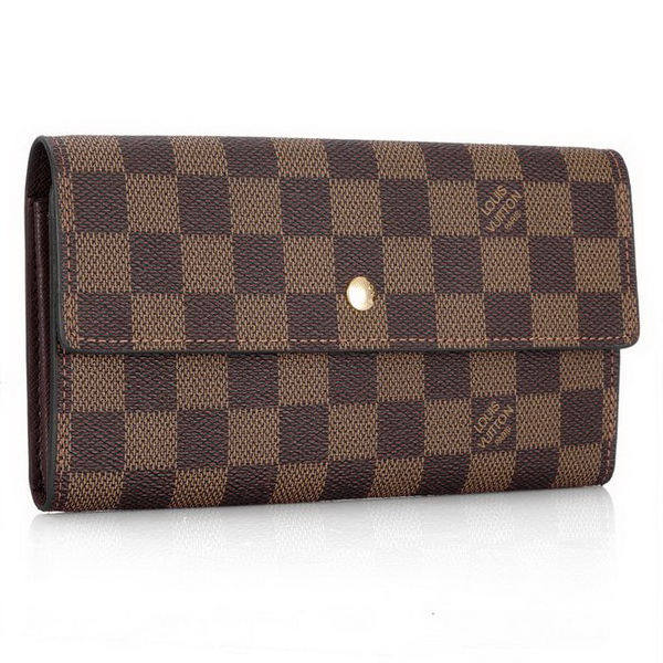 Louis Vuitton Damier Ebene Canvas Sarah Wallet N61734