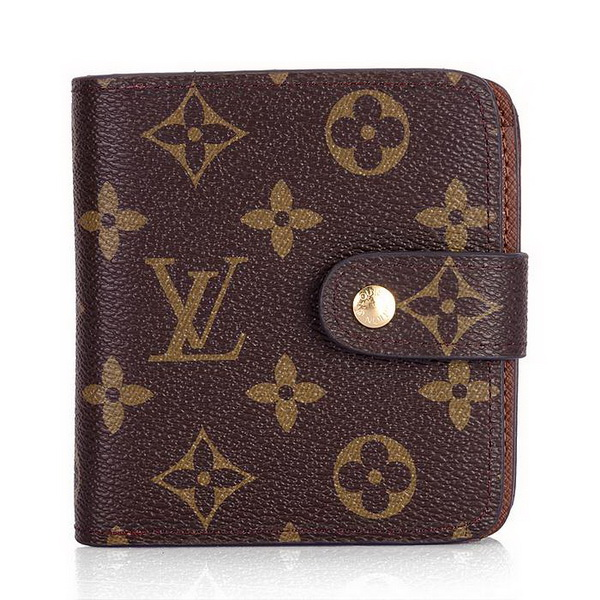 Louis Vuitton Monogram Canvas Compact Wallet N61667